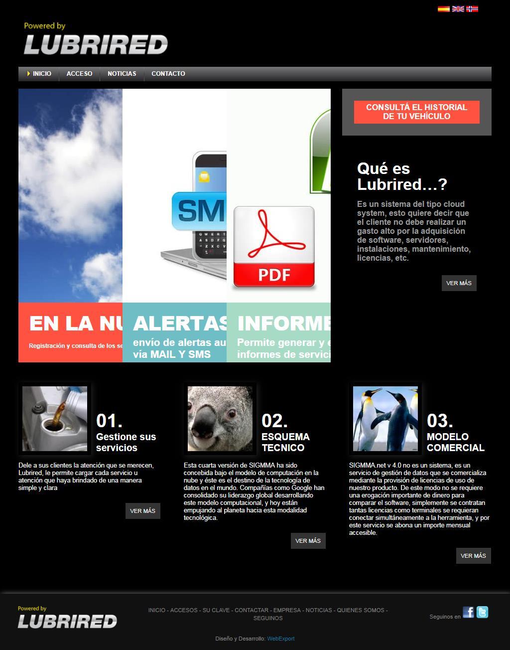 Pagina completa WebExport
